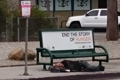hungry bench (t.horak) Tags: end story hunger unemployed beggar bench street man people sleep sleeping poor stop desperate juxtaposition