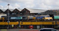 Eastleigh Works   panorama (davidhann34016) Tags: 37602 class37 class47 47812 47813 eastleigh works 9 schoma turbot londontransport 47815