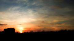 Wasteland Sunset (superhic) Tags: sunset sky dusk city wasteland sun building house