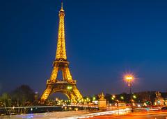 La Tour Eiffel - blue hour (p.niebergall) Tags: la tour eiffel paris night nacht frankreich france