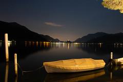 Long exposure on the Lake Lugano (dispo44) Tags: lago lugano svizzera lake switzerland landscape paesaggio long exposure lunga esposizione canon 70d reflections riflessi water sky night light lights