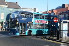 ANE 7555 @ Newcastle-upon-Tyne Eldon Square/Haymarket bus station (ianjpoole) Tags: arriva north east alexander dennis enviro 400 sn15llr 7555 working route x15 newcastleupontyne haymarket bus station alnwick