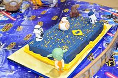 Cub Scouts Blue & Gold Ceremony Star Wars Cake 3 (rikkitikitavi) Tags: custom cake dessert vanilla chocolate buttercream fondant handsculpted handmade starwars r2d2 yoda stormtrooper chewbaca bb8 cubscout blueandgoldceremony bluegoldbanquet