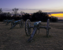 Cannons Sunset (1 of 1) (johnny.be.traveling) Tags: canon cannon war virginia history battle sunset