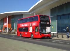 SLN 12450 - SN67XER - COMMERCIAL WAY EAST GREENWICH - TUE 26TH FEB 2019 (Bexleybus) Tags: commercial way east greenwich se10 bq ikea adl dennis enviro 400 mmc stagecoach london selkent tfl route 161 12450 sn67xer