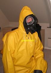1 (gummifan61) Tags: rainwear raingear rubber gasmaske old