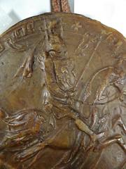 1293 - 'seal of Jan I, duke of Brabant and Limburg', Stadsarchief, Leuven, province of Flemish Brabant, Belgium (roelipilami (Roel Renmans)) Tags: 1293 john jan jean i brabant duke hertog duc herzog worringen woeringen 1288 document oorkonde stadsarchief leuven archives ville louvain belgië belgique belgium belgien cheval pferd paard horse knight ritter ridder chevalier battle great helm heaume topfhelm pothelm crest cimier helmteken zimier seal zegel sceau siegel sello juan brabante duque lovaina limbourg limburg hauberk cotte de mailles maliënkolder ailettes wyvern chimère chimera caparison caparacon banner shield housse баргустувон жан герцог брабанта city surcotte wapenkleed wappenrock