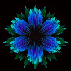 718 (MichaelTimmons) Tags: blue flower art digitalart abstract purple digitalpainting