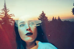 free fallin' (Louis Dazy) Tags: 35mm analog film double exposure girl scenery landscape sunset sunrise sad