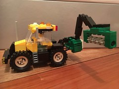 Lego MOC JCB Fastrac Tractor with Reach Mower (andy30e) Tags: lego moc farm tractor mower city town classic vintage custom agriculture