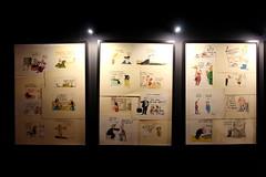 Cartoons (demeeschter) Tags: belgium liege guillemins gare train station expo exhibition museum show attraction generation 80 music art politics fashion culture