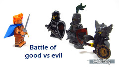 Battle of good vs evil (WhiteFang (Eurobricks)) Tags: lego minifigures cmfs collectable walt disney mickey characters licensed design personality animated animation movies blockbuster cartoon fiction story fairytale series magic magical theme park medieval stories soundtrack vault franchise review ancient god mythical town city costume space