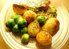 Pork Chop with Roast Potatoes and Sprouts (Tony Worrall) Tags: images photos photograff things uk england food foodie grub eat eaten taste tasty cook cooked iatethis foodporn foodpictures picturesoffood dish dishes menu plate plated made ingrediants nice flavour foodophile x yummy make tasted meal nutritional freshtaste foodstuff cuisine nourishment nutriments provisions ration refreshment store sustenance fare foodstuffs meals snacks bites chow cookery diet eatable fodder ilobsterit instagram forsale sell buy cost stock