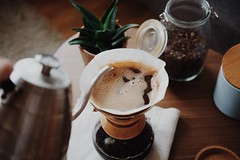 person pouring coffee into cup - Credit to https://myfriendscoffee.com/ (John Beans) Tags: coffee cup froth coffeebean cafe coffeebeans shopbeans espresso coffeecup drink