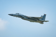 "An F-15C Eagle takes off from Kadena Air Base, Japan (#PACOM) Tags: ""usindopacificcommand usindopacom"" 18th 44th 5af 67th air airforce base eagle f15 fighter force indopacom japan kadena okinawa pacaf pacom pacificairforce squadron takeoff usairforce usindopacificcommand usaf unitedstatesairforce wing kadenaairbase jpn"