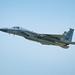 An F-15C Eagle takes off from Kadena Air Base, Japan