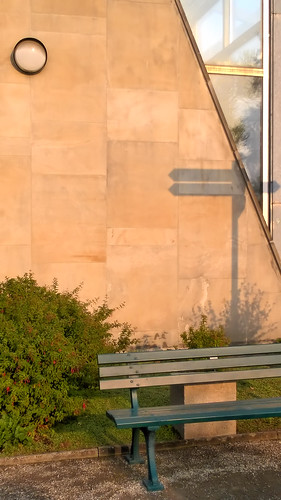 Bench and Signpost Shadow