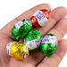 Colored Chocolate Easter Eggs in the hand