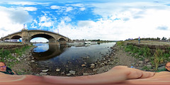 "Dresden - Schaufelraddampfer ""Leipzig"" und Albertbrücke 360 Grad (www.nbfotos.de) Tags: dresden elbe fluss river schaufelraddampfer leipzig schiff dampfer ship boat albertbrücke brücke bridge 360 360gradfoto theta360de ricohthetas"