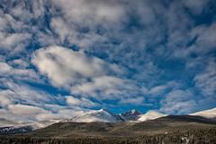 Mountain Clouds (RkyMtnGrl) Tags: clouds mountains sky snow pines landscape nature scenery vista longspeak mtmeeker rockymountains allenspark colorado 2019