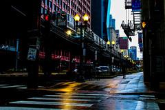 Shock and Awe (BravoDelta1999) Tags: chicagotransitauthority cta railroad chicagorapidtransit crt railway loop elevated jackson wabash tower12 interlocking redline bombardier 5000series run train 803 chicago illinois