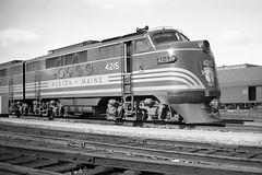 Boston & Maine FTA #4215;  Date , Location unknown. (Houghton's RailImages) Tags: bostonmaine fta emd emc bm diesel locomotive railroad bw trains locomotives