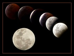 Moon phase (MoparMadman63) Tags: moon eclipse abstract sky night dark illusion artistic framed sphere suburb texas fullmoon collage