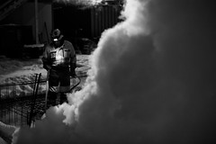 It´s Friday! Time to let off some steam. (Sami A. Korhonen) Tags: steam working man urban jobs construction