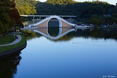 _01A1560 (Dream Delivered (Dreamer.Thanks for +6.000.000 vi) Tags: seasons reflections people lake duck bridge tree park