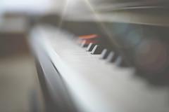 Play Me... (KissThePixel) Tags: music piano pianoforte ebonyandivory light sunlight sunbeam dof depthoffield dofalicious dreamy dreamingoflight dreamybokeh bokeh bokehlicious macro makro closeup stilllife instrument nikondf nikon df 50mm 14 f14