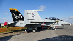 """Boeing F/A-18F Super Hornet of Strike Fighter Squadron 103 (VFA-103) """"Jolly Rogers"""" from NAS Oceana (Norman Graf) Tags: boeing fa18f usn aircraft airplane 168493 cagbird 2017nasoceanaairshow airshow vfa103 navalaviation fa18 jollyrogers ag200 attack carrierairgroup f18 f18f fighter hornet jet nasoceana plane strikefightersquadron103 superhornet unitedstatesnavy"""