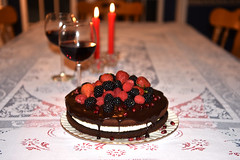 Happy Valentine's Day (Zircon_215) Tags: valentinesday cake theultimatedecadentchocolateandcreamlayercake chocolate chocolatecake layercake