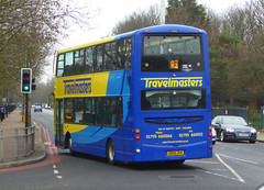 TRAVELMASTERS - GD09JHX - NSR - ELTHAM ROAD - SAT 16TH FEB 2019 (Bexleybus) Tags: eltham road south east london rail replacement bus service eastern trains bexleyheath line land slide 2019 wrightbus gemini volvo travelmasters kent gdo9jhx