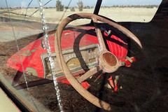 Ain't Goin Nowhere (Eclectic Jack) Tags: shaniko eastern oregon trip october 2018 rural autumn fall central ghost town highway hwy 97 small history america americana west old truck steering wheel window glass