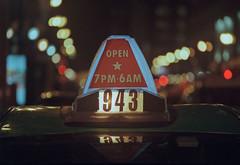 🚕 Stripper Taxi Cab 943 Hours Of Operation. (Jovan Jimenez) Tags: 📷 canon eos rebel t2 nikon series e 135mm f28 kodak ultramax 400 film 🚕 plustek opticfilm 8200i ai night kiss7 300x cab bokeh seriese eseries analog analogue star