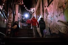 Christmas Steps, Bristol, UK (KSAG Photography) Tags: steps stairs street bristol uk unitedkingdom britain england europe nightphotography night city urban nikon 35mm hdr people couple february 2019