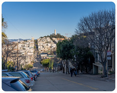 The Steeps Of San Francisco (alessio.vallero) Tags: sanfrancisco california unitedstatesofamerica us streetphotography view coit tower city slope incline steep hdr gm sony crop