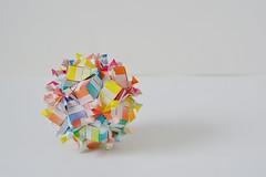 "Ostia ""Undone"" Kusudama (Byriah Loper) (Byriah Loper) Tags: origami modularorigami modular byriahloper kusudama paperfolding paper polygon polyhedron geometric folding"