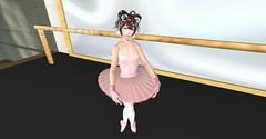 Ballet Boi Neka (nekagirl101) Tags: sissy secondlife tutu ballet tights gloves nails nekomini nekoboy tail makeup pink