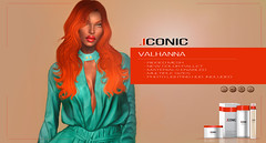 ICONIC_VALHANNA_BANNER (Neveah Niu /The ICONIC Owner) Tags: salon 52 iconic iconichair iconiccouture neveahniu neveah hair hairstyles green 3dmesh 3dart event mesh meshhair multistyler