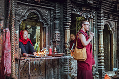 Jana Bahaal (danielhibell) Tags: kathmandu nepal travel asia discover explore world street streetphotography people religion culture ambience mood buddhism hinduism colour light praying moving special