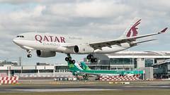 A7-AFZ Airbus A330-242F Qatar Cargo EIDW 20-3-19 repaint 2 (1 of 1) (Conor O'Flaherty) Tags: a7afz airbus a332 a332f freighter cargo qatar eidw dublinairport dublin ireland landing grass runway airport