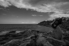 DSC01100 (Damir Govorcin Photography) Tags: bondi beach sydney blackwhite rocks sky clouds wide angle monochrome landscape sony a7rii zeiss 1635mm water sea composition