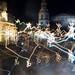 Trafalgar Square blurred