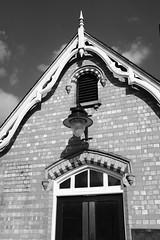 station lamp (bejem) Tags: station wellingborough victorian 1857 lamp shadow brickwork arch eaves bargeboards doors