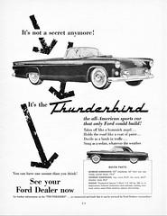 1955 Ford Thunderbird Ad (aldenjewell) Tags: 1955 ford thunderbird ad