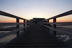 Strandbar 54° Nord, St. Peter-Ording - Schleswig-Holstein (Bernd 2011) Tags: nordsee sunset sonnenuntergang pfahlbauten pfahlbau wasser strandbar54°nord eiderstedt canon powershot sx50hs schleswigholstein