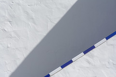 Geometry with  shadow and handrail (Jan van der Wolf) Tags: map194305v lanzarote handrail leuning blue blauw white wit shadowplay schaduwspel geometric geometry geometrisch geometrie shadow schaduw