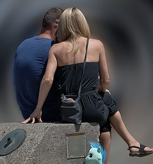 Sitting Together (Scott 97006) Tags: guy gal man woman female lady blonde cute couple seated