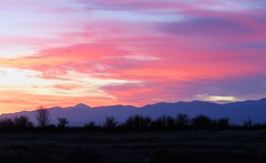 Magic in the Morning (Patricia Henschen) Tags: colorado winter alamosacolorado alamosa mountains mountain sangredecristo ranch rural west western backroads sunrise clouds sanluisvalley southriverroad catchycolors